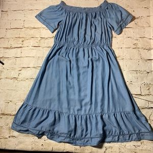 NWT Old Navy Denim Style Boho Peasant Dress Sz XXL